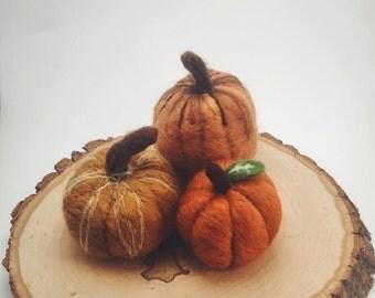 Needle Felted Pumpkin Centerpiece