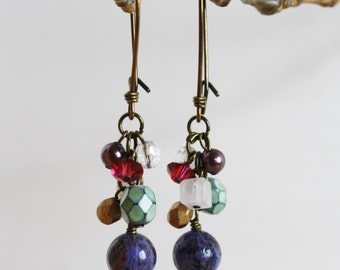 Purple Crazy Lace Agate earrings