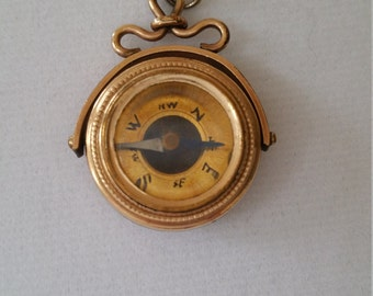 Stay the Course with an Antique Compass Pendant!