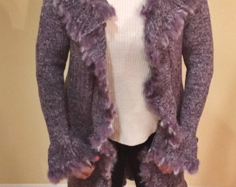 Asymmetric Sweater with fur