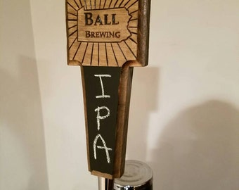 Beer Tap Handle - Customizable / Wood Burned - Any Design