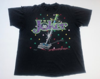 vintage THE JOKER dc comic movie cartoon 1989 t shirt