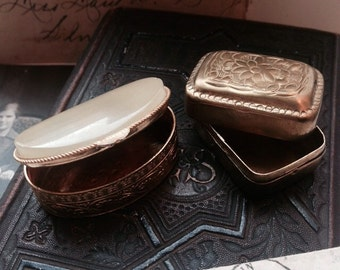Two vintage pillboxes