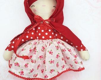 Little Red Riding Hood Handmade Ragdoll