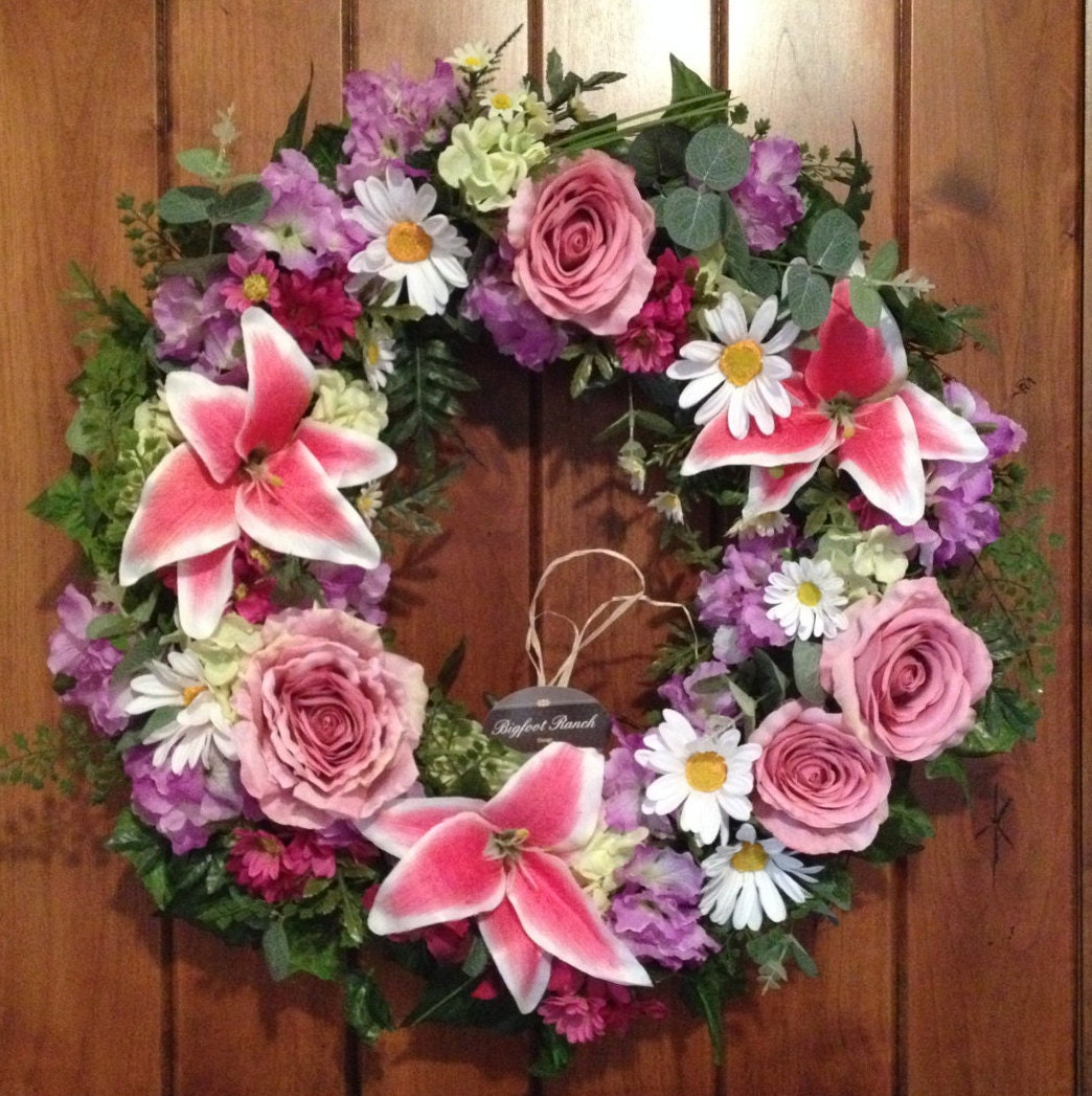 front door wreath outdoor wreath indoor wreath all season wreath spring wreath summer wreath floral wreath large wreath wreath