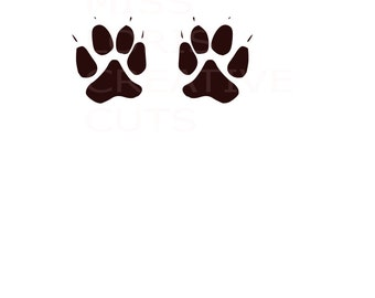 Dog Tracks SVG   cut file  t-shirts  animals wild life forest Huntingscrapbook vinyl decal wood sign cricut cameo Commercial use