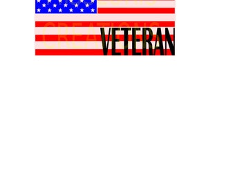 USA FLAG Veteran 4th of July, patriotic  SVG   cut file scrapbook vinyl decal wood sign cricut cameo Commercial use