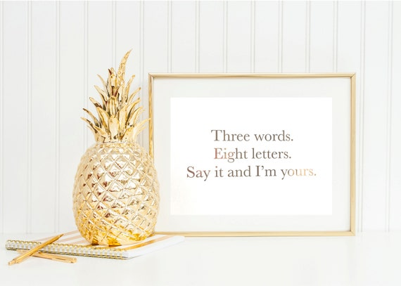 three words eight letters say it and i m yours three three words eight letters say it and i m yours gold 158