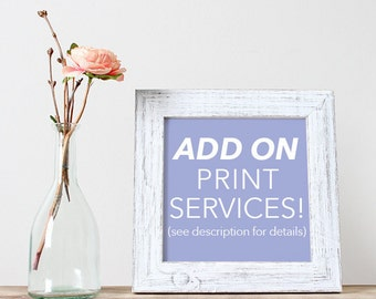 Add on Printing Services!