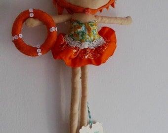 Art doll vintage swimming girl - Esther