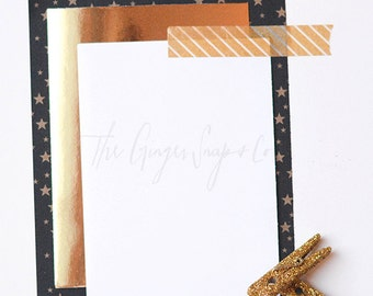 Styled Stock Photography | Gold Star Stationary | Stock Photo | Blog Image