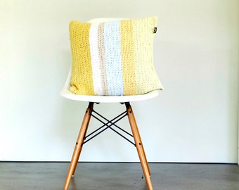 Upcycling: large square pillow