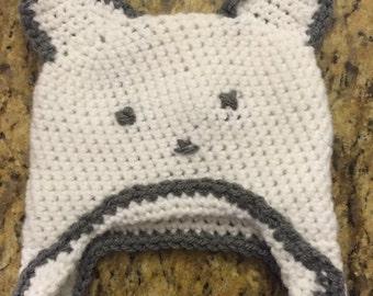 Baby Teddy Bear Crochet Hat
