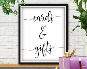 Cards And Gifts Sign, Cards And Gifts, Cards And Gifts Wedding Sign, Gifts And Cards Sign, Gifts And Cards, Wedding Gift Sign, Gifts Sign