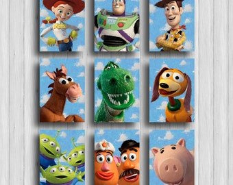 toy story print set of 9 toy story room poster disney decor toy story party disney nursery
