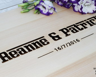 Wedding Gift  Personalized Cutting Board Anniversary Gift Wedding Gift for couple Housewarming Gift Engraved Wood Cutting Board