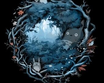 Forest Spirits • KIDS T-Shirt • Totoro • Beautiful Crest Tee