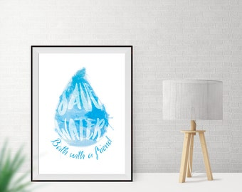 Art print / / save water