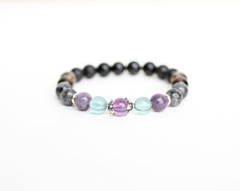 Stress Relief Bracelet. Anxiety Bracelet. Protective Bracelet. Grounding Bracelet. Relieve Stress Bracelet. Crystals for Stress. Calming.