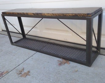 Rustic Industrial Bench