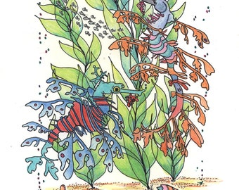 Coloring pages, Sea Dragons, Animals in the Ocean