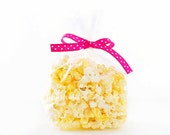 Bag of Popcorn Styled Photo, Styled Stock Photography, Party Styled Mockup, Popcorn Styled Photo, Pink Ribbon, Snack Bag Display, 42