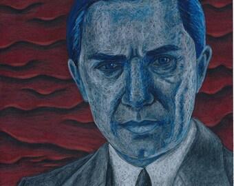 Bela Lugosi Dracula Original Portrait Print