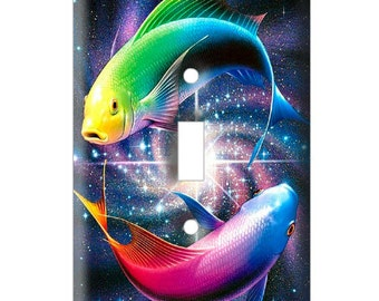Yin Yang Fish - Decorative Light Switch Cover - Single Toggle Switch Plate Cover