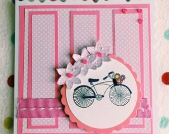 Cute Girly Handmade Birthday Card