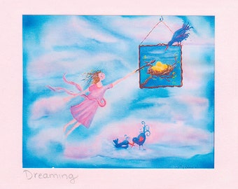 Dreaming...Greeting Card, a vision of new beginnings, possibilities, creativity..For graduation, a new start..for encouragement &  support