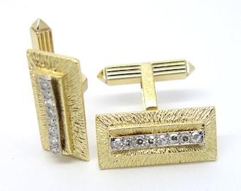 Diamond Cufflinks - 18ct Gold