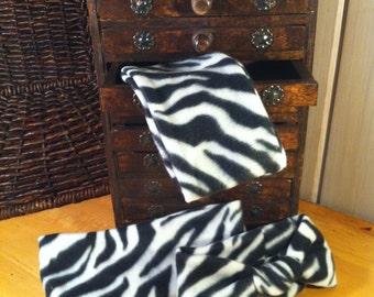 Zebra Print Fleece Headband