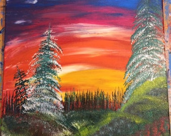 Lost Spirit, Original 12x12, acrylic painting on canvas