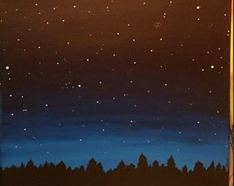 Colorado Night - Acrylic Painting