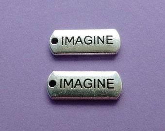 9 Imagine Word Charms Silver - CS2167