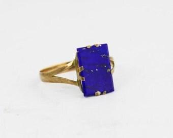 ANTIQUE Lapis 10K GOLD RING Jewelry