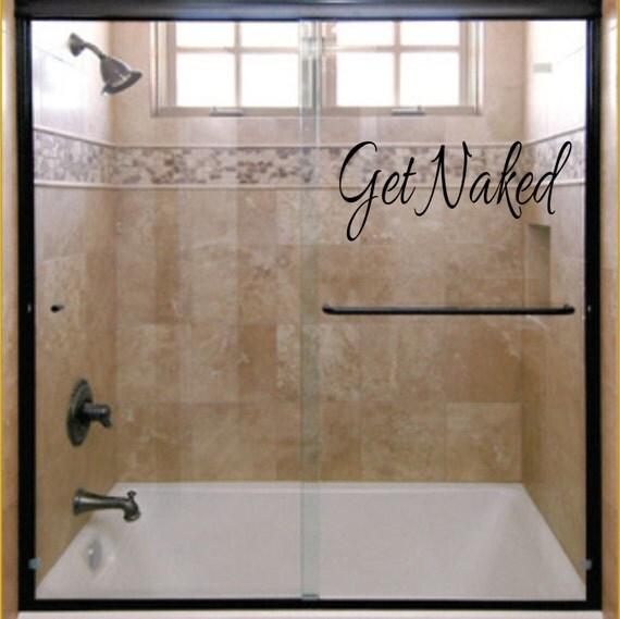 Get naked bathroom wall decor wall vinyl decal apartment for Get naked bathroom decor