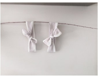 Light Grey + Lace Arrow or Top Knot