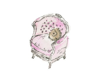 8x10 Pink Chair
