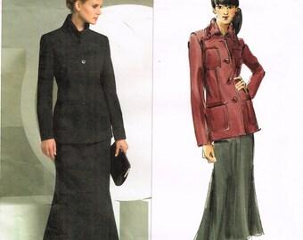 Vogue 2872 - Anne Klein - Vogue American Designer - Jacket, skirt - Size 8, 10, 12 - Uncut