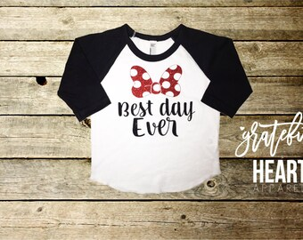 Minnie Mouse shirt, Best day ever, Disneyland shirt, Minnie Mouse, Disneyland outfit, Minnie Mouse Birthday, Custom Disneyland shirt