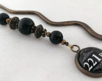 Sherlock 221B Baker Street beaded bookmark