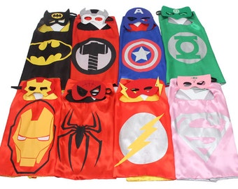 Party Pack 5,6,7,8,9 Capes Set- Super Hero Cape for kid, Super Hero Cape, Kids Cape, super hero cape, Boys and Girls Superhero Costume