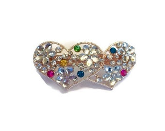 Valentine's Day Heart Hair Clip - Rhinestone Hair Clip - Heart Barrette - Rhinestone Hair Barrette - Valentine's Day Gift - Gifts for Her