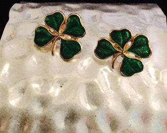 Lucky Four Leaf Clover Earrings