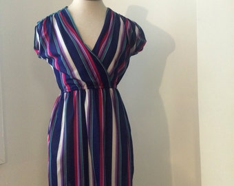 1970's  inspired stripped dress