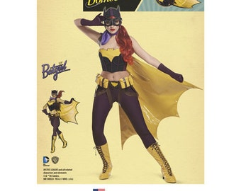 Sewing Pattern for D.C. Comics Bombshells Bat Girl Costume, Simplicity Pattern 8197, Womens Halloween Costume, DC Comics,Cosplay, Plus Sizes