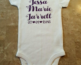 Baby Announcement Bodysuit