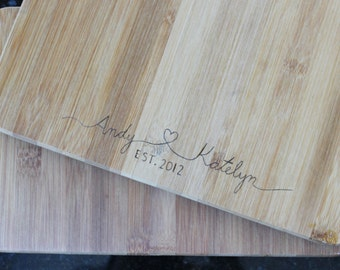 Custom Name Cutting Board - Wedding Gift