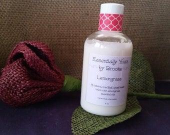All-Natural Lemongrass Lotion with Essential Oils-4 oz.